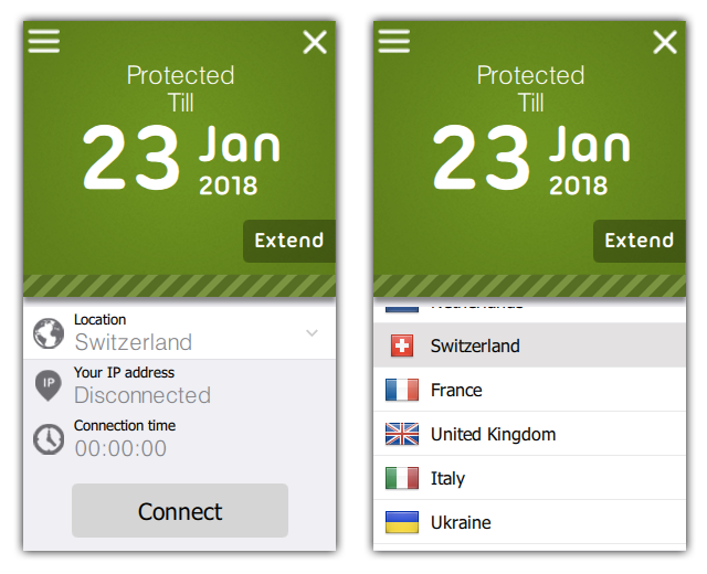 FREE VPN PROXY by SEED4.ME WINDOWS Screen shot